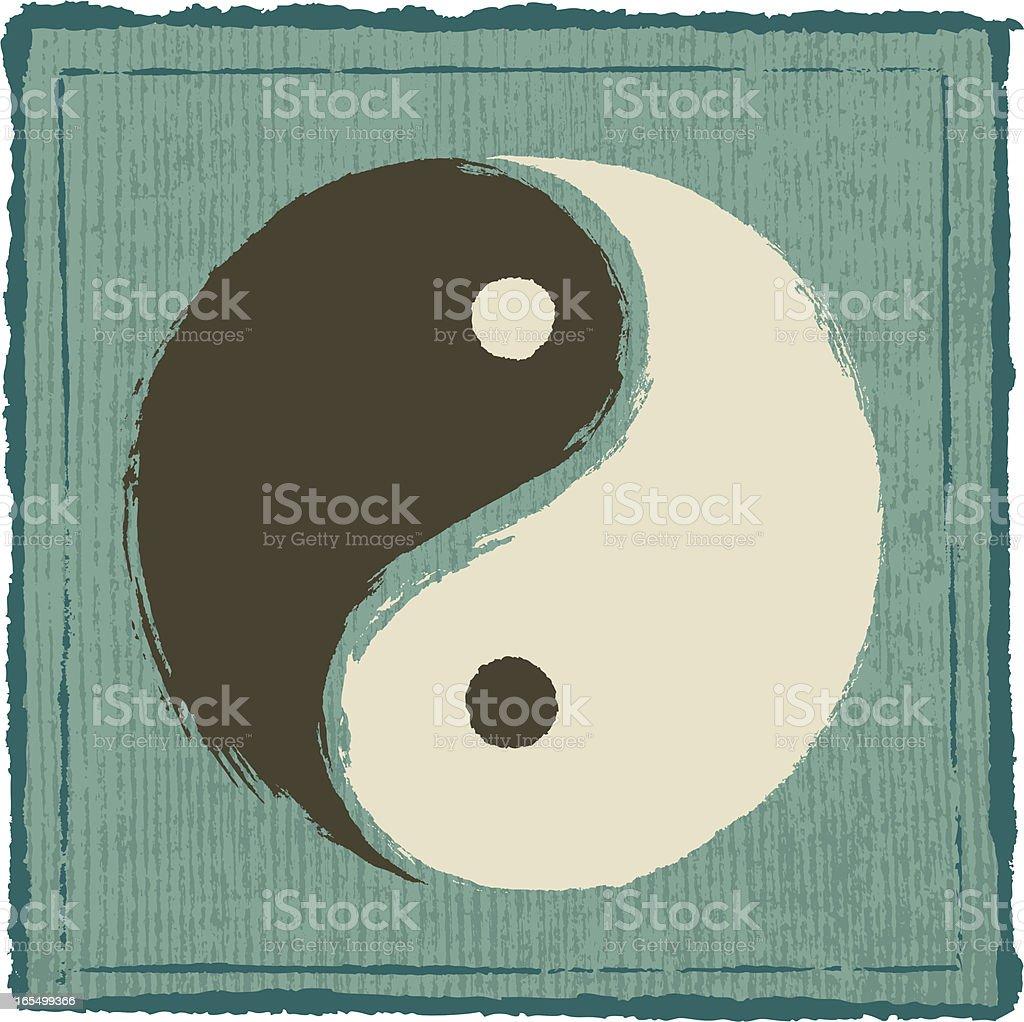Yin Yang Symbol vector art illustration