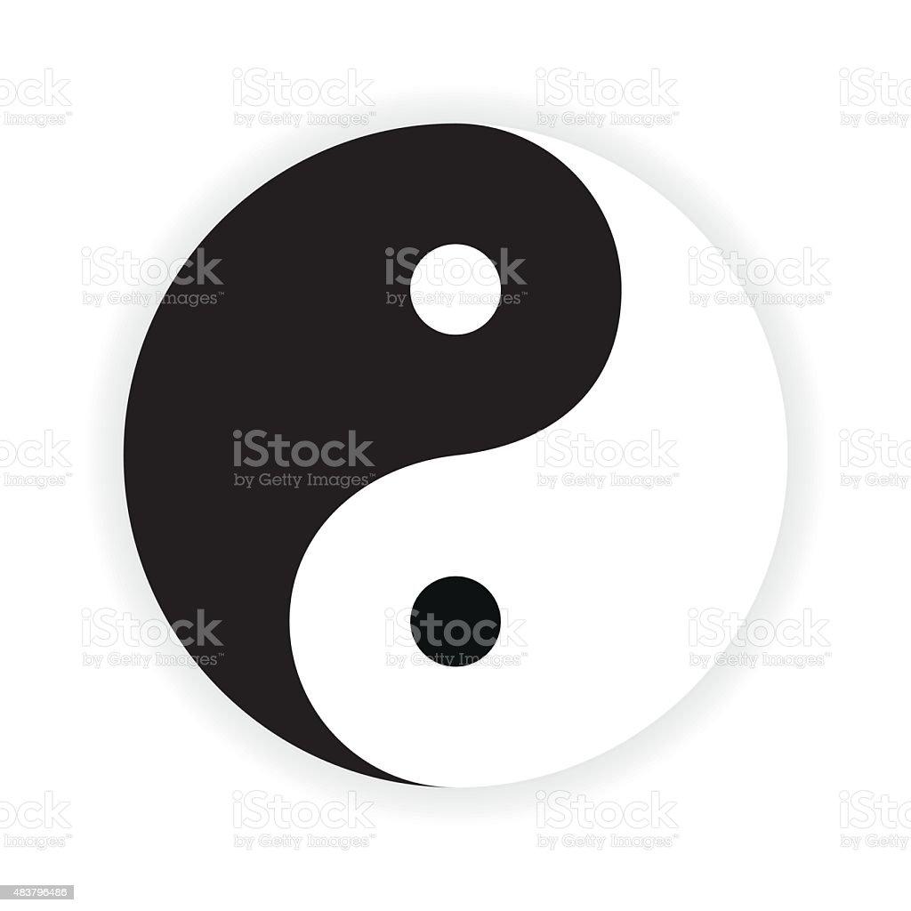Yin Yang symbol. Vector. vector art illustration