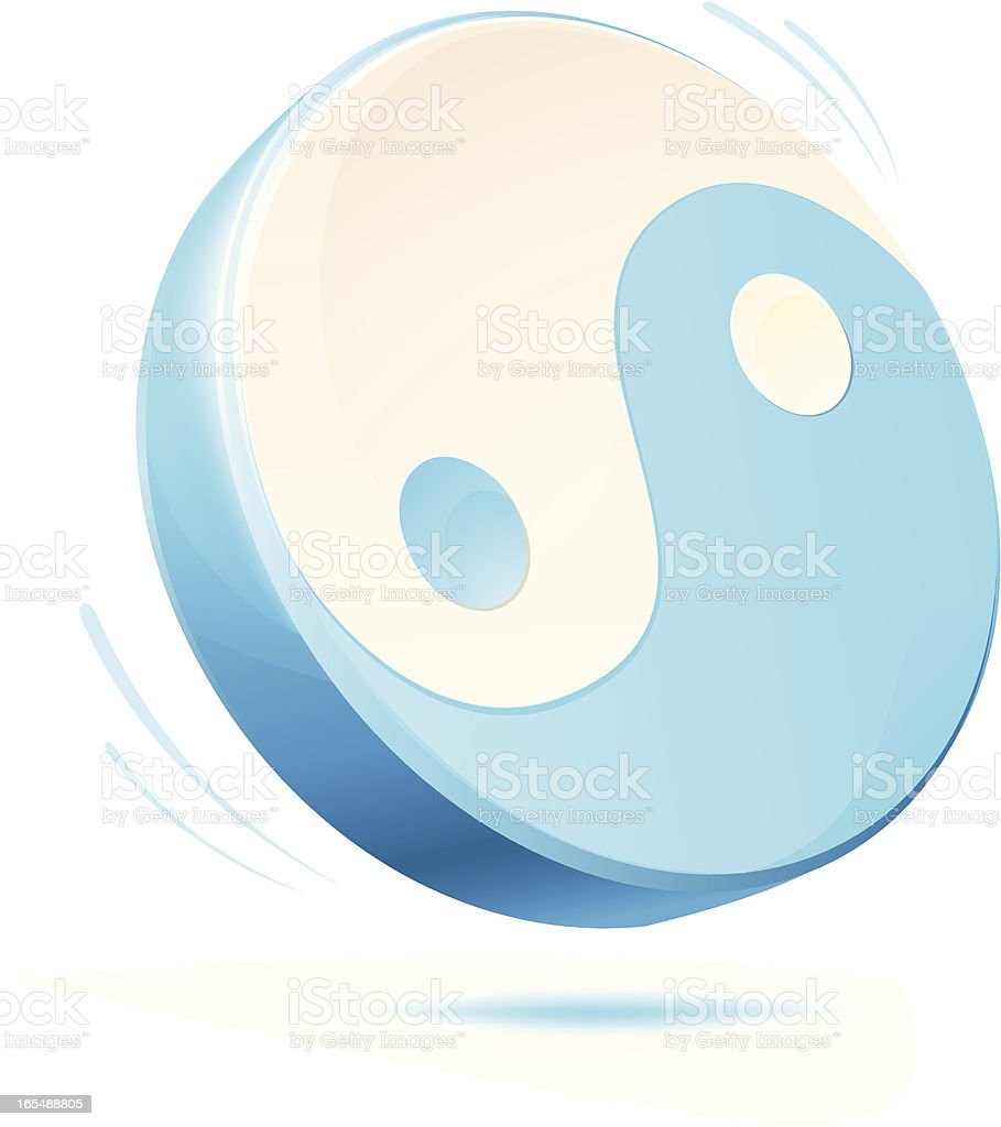 Yin Yang royalty-free stock vector art