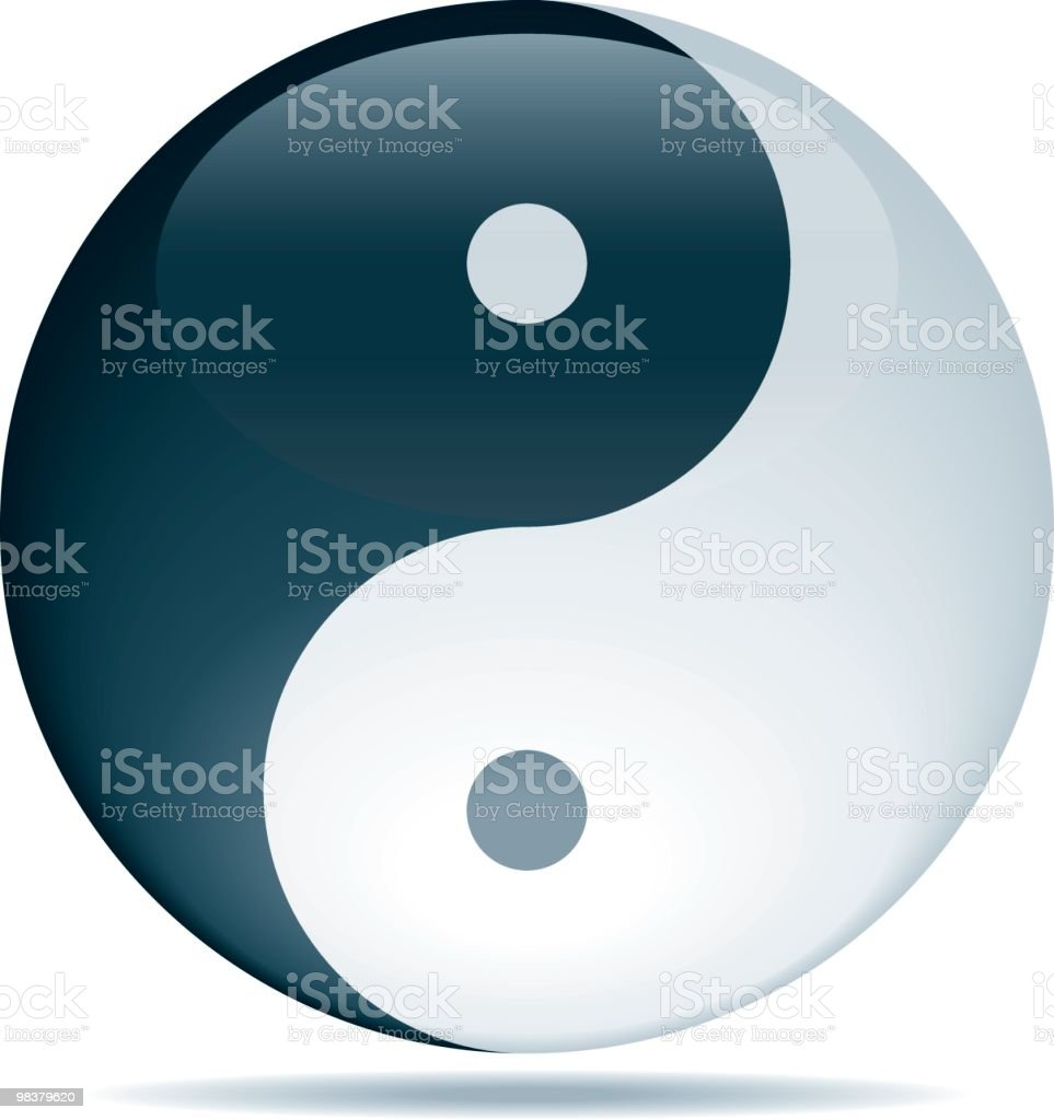 Yin Yang vector art illustration