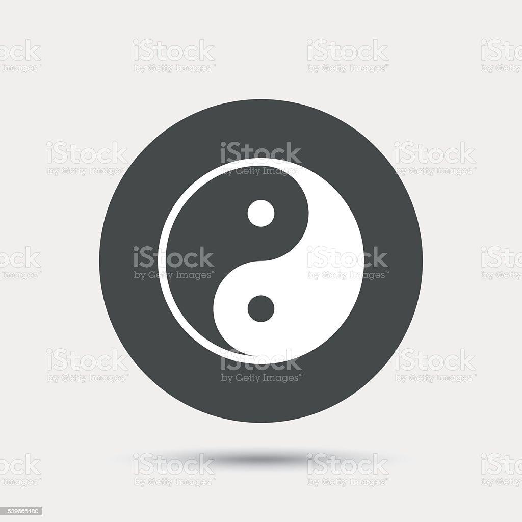 Ying yang sign icon. Harmony and balance symbol. vector art illustration