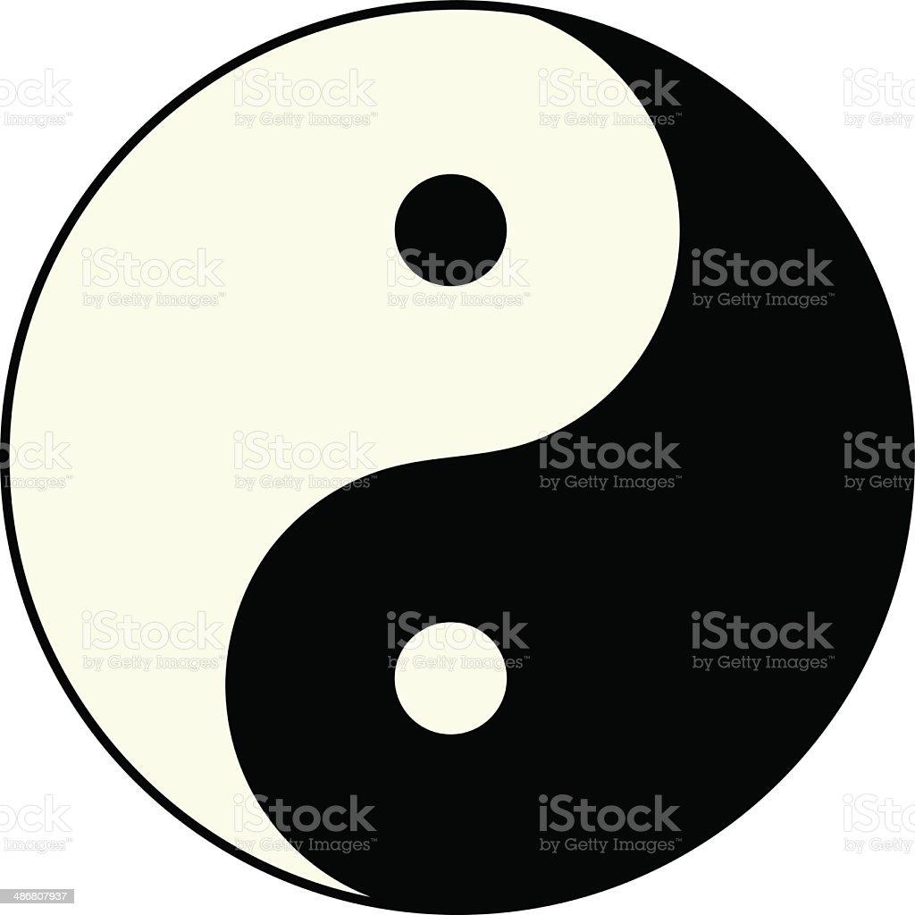 Ying yang symbol of harmony and balance vector art illustration