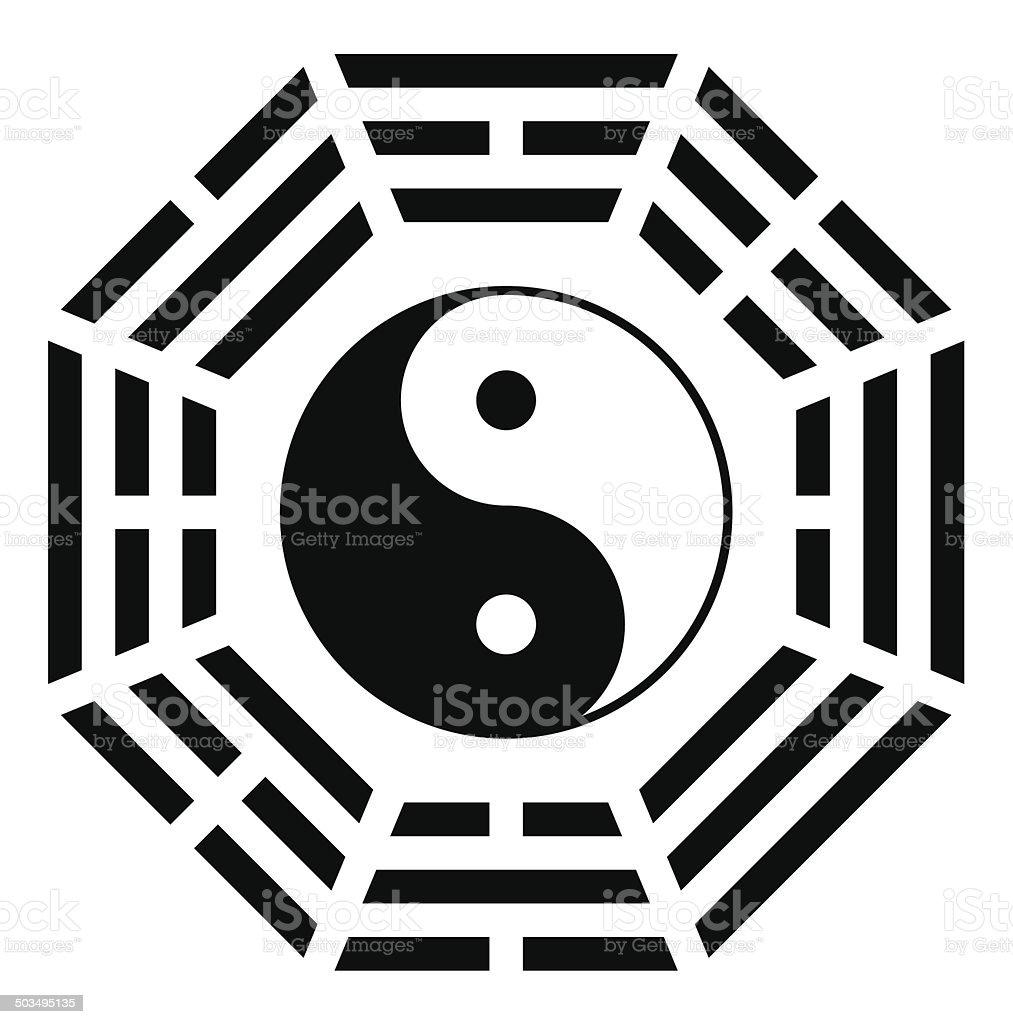 Ying yang symbol of harmony and balance royalty-free stock vector art
