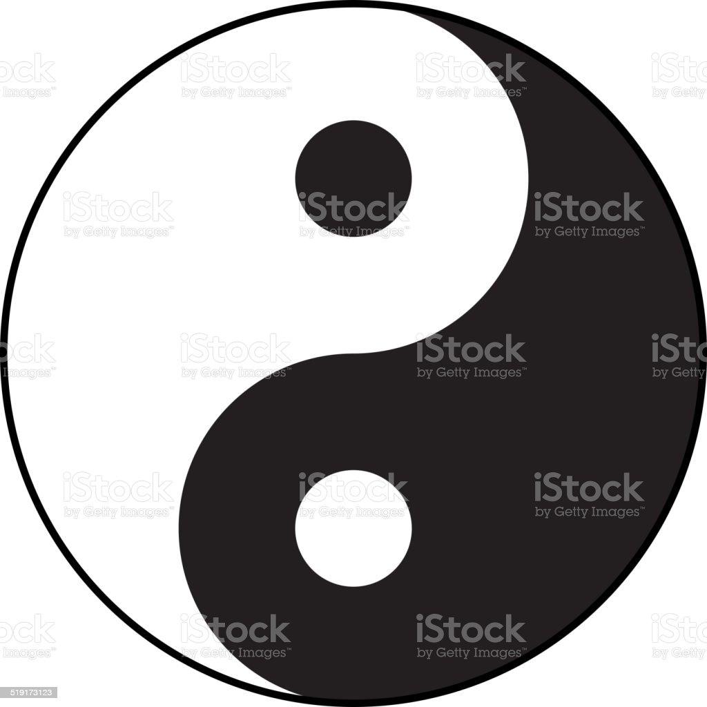 Ying-yang symbol of harmony and balance. Flat style. vector art illustration