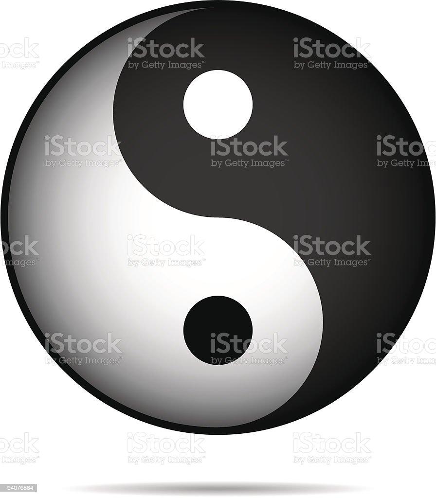 Yin-Yan royalty-free stock vector art