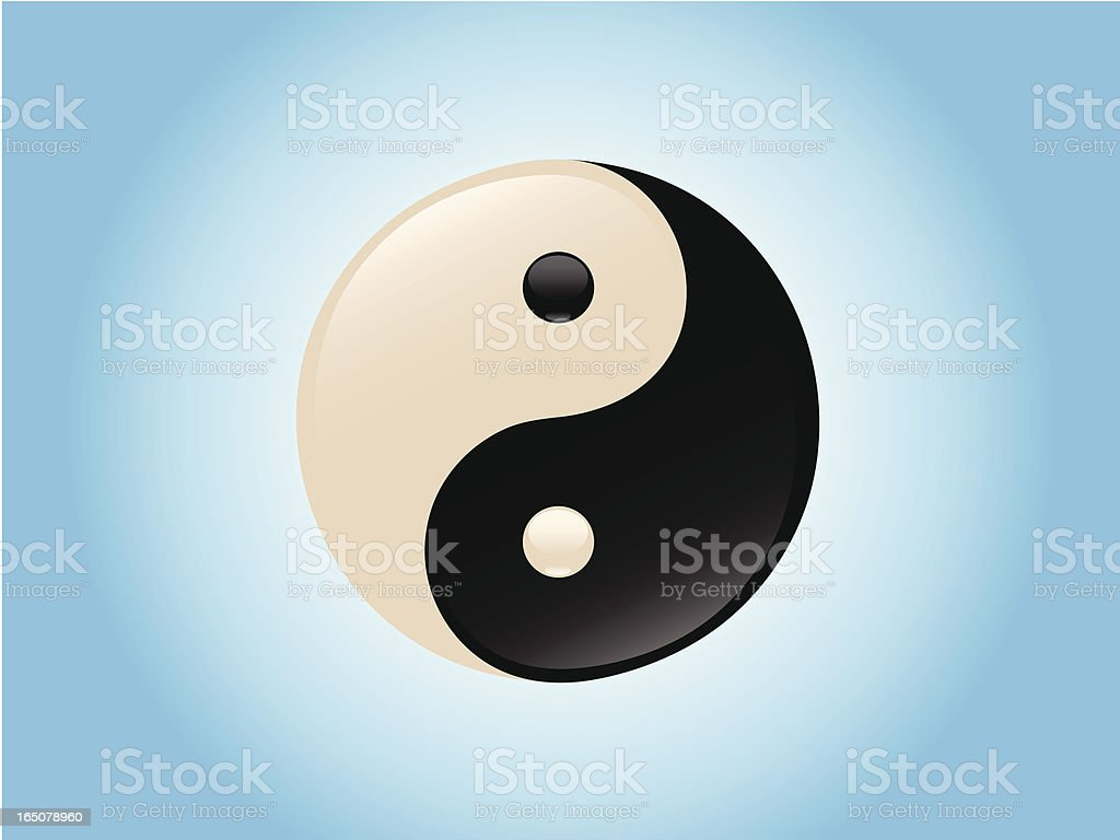 Yin-yang symbol royalty-free stock vector art