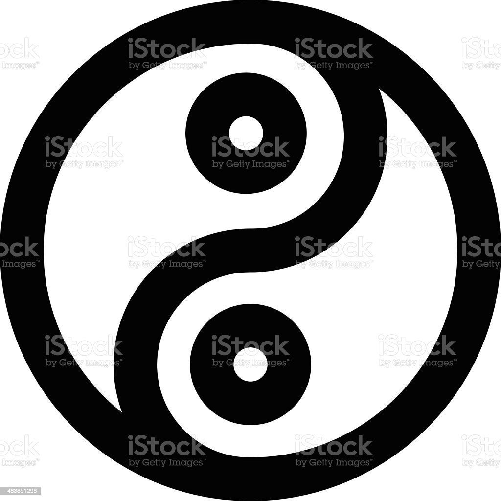 Yinyang Vector Icon vector art illustration