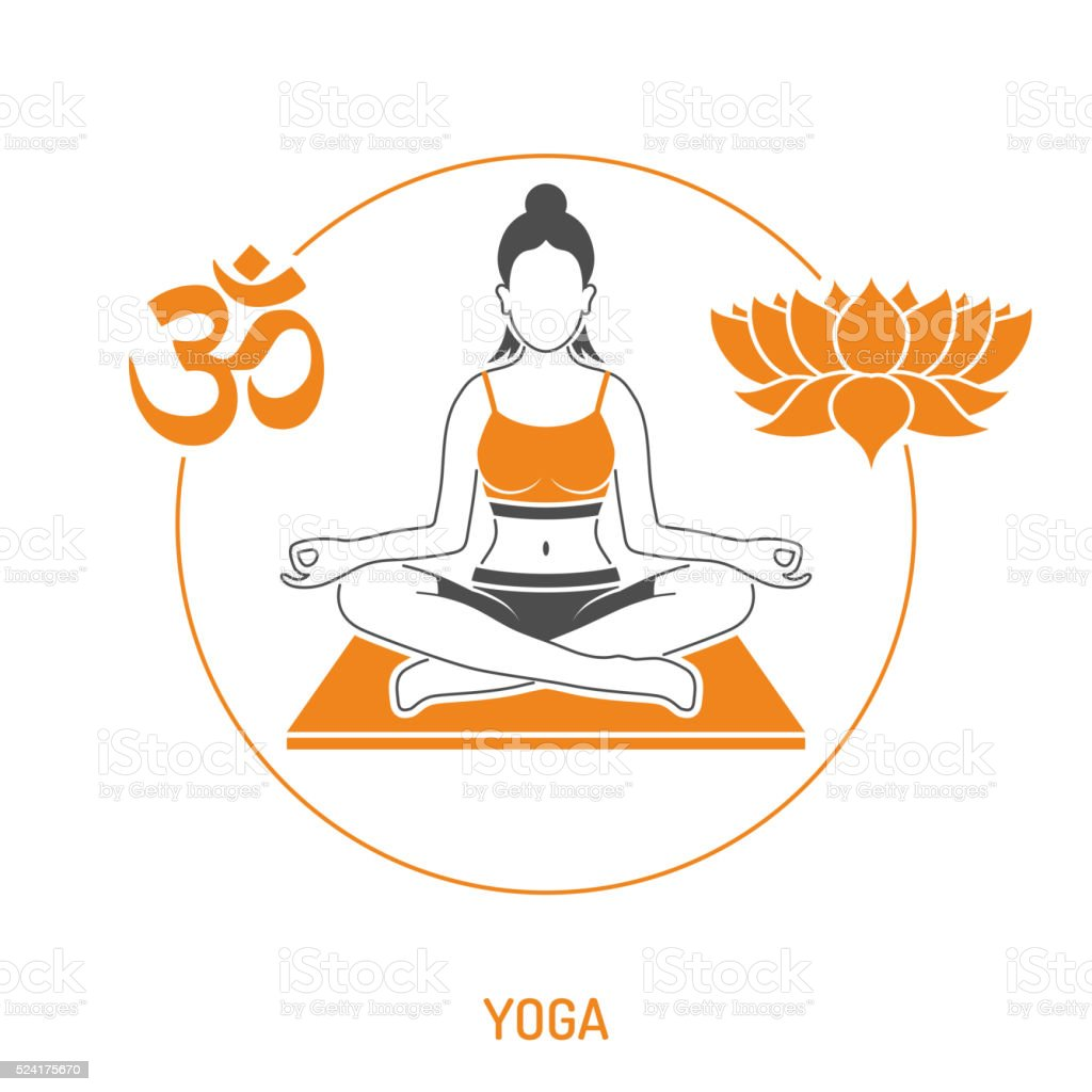 Yoga and Fitness Concept vector art illustration