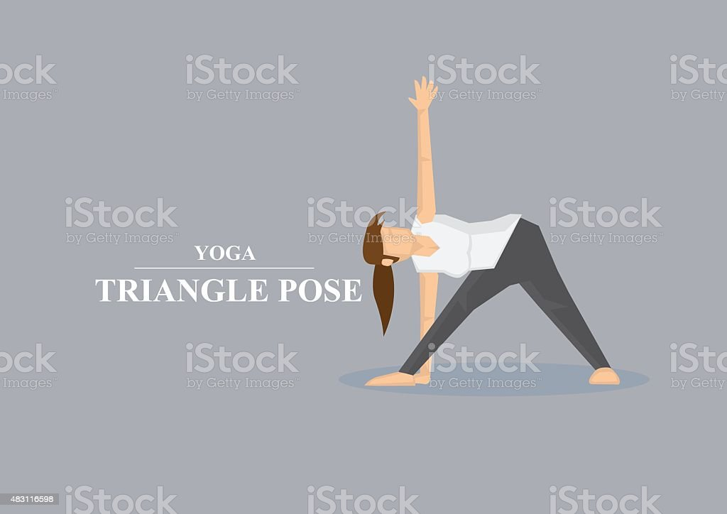 Yoga Asana Triangle Pose Vector Illustration vector art illustration