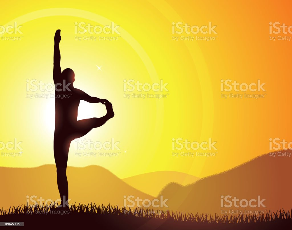 Yoga at sunrise royalty-free stock photo