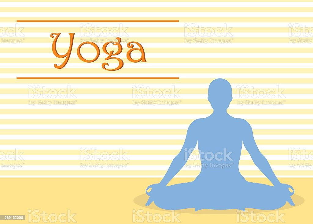 Yoga Background vector art illustration