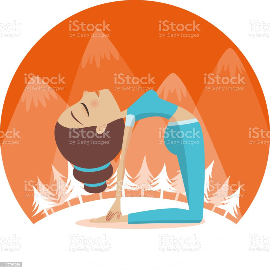Yoga Camel position vector art illustration
