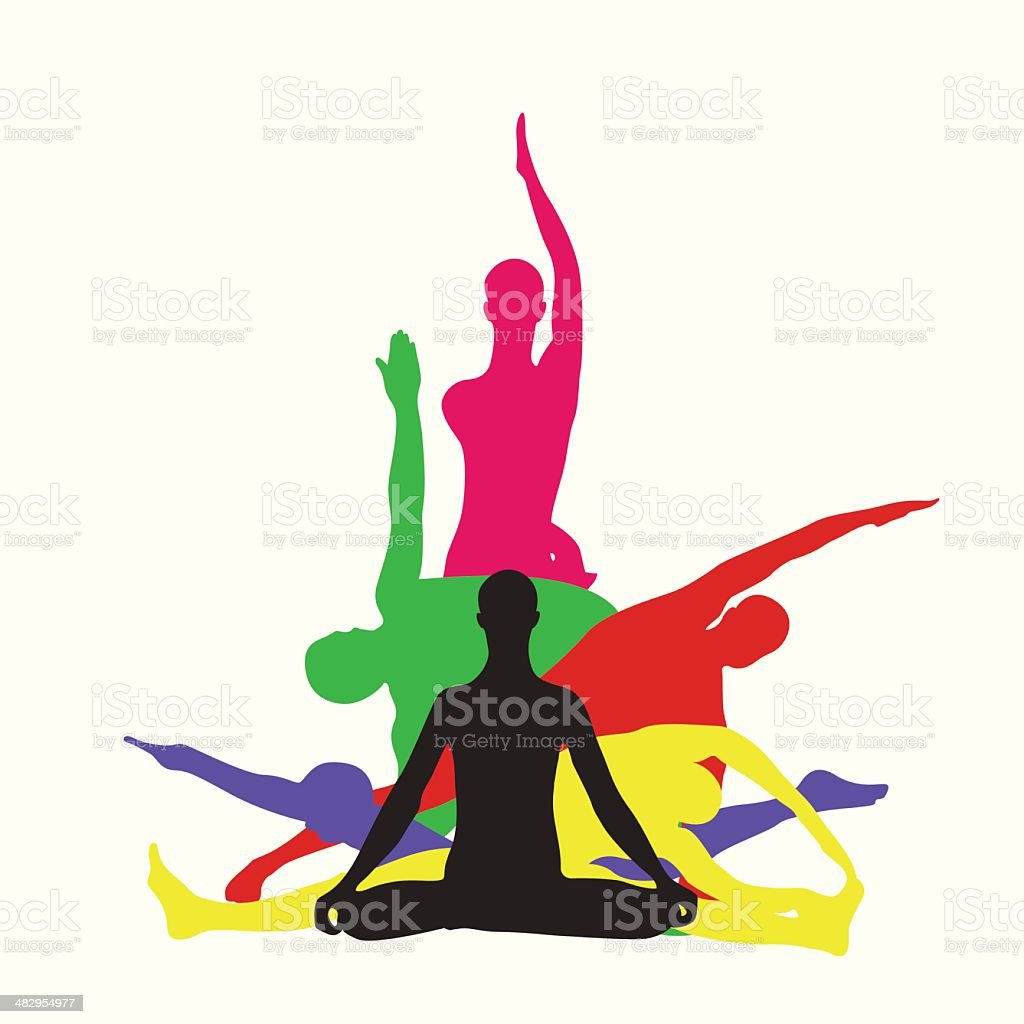 Yoga center vector vector art illustration