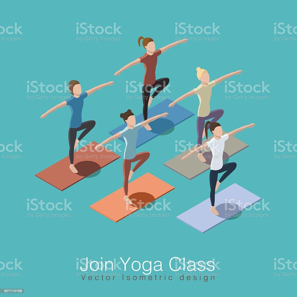 Yoga class illustration vector art illustration