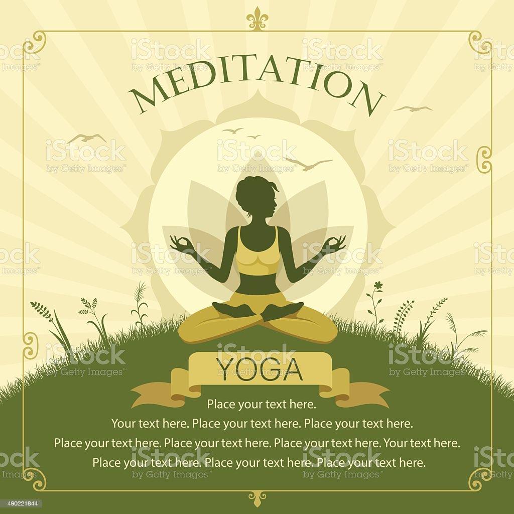Yoga Class vector art illustration