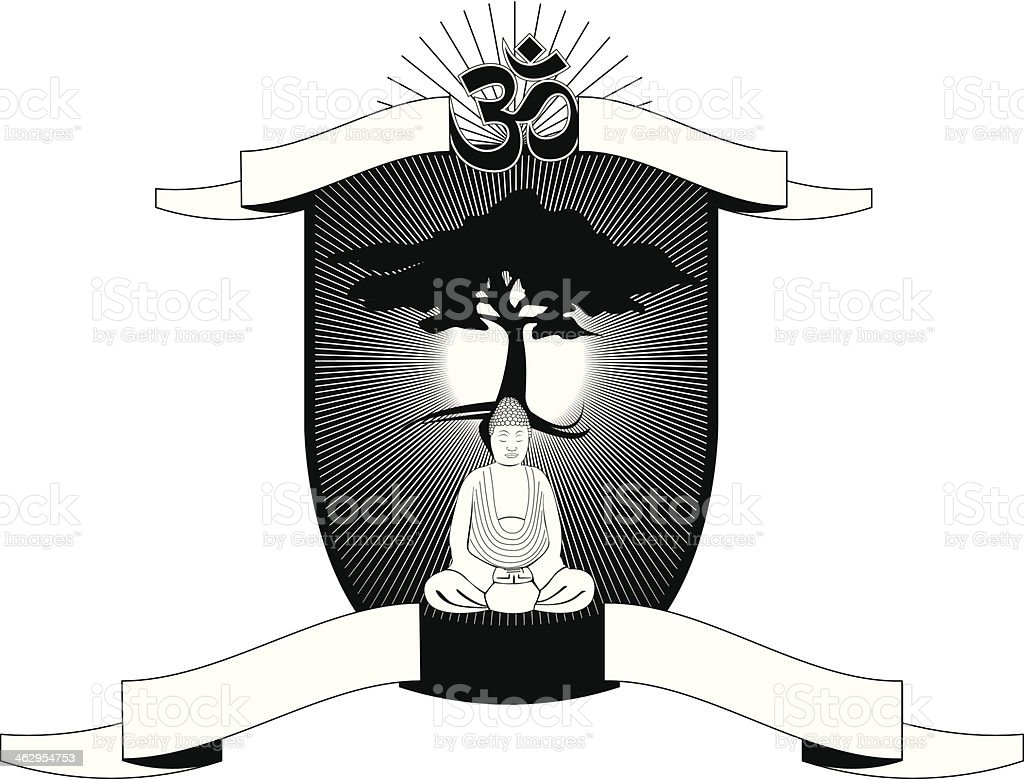 Yoga Coat Of Arms royalty-free stock vector art