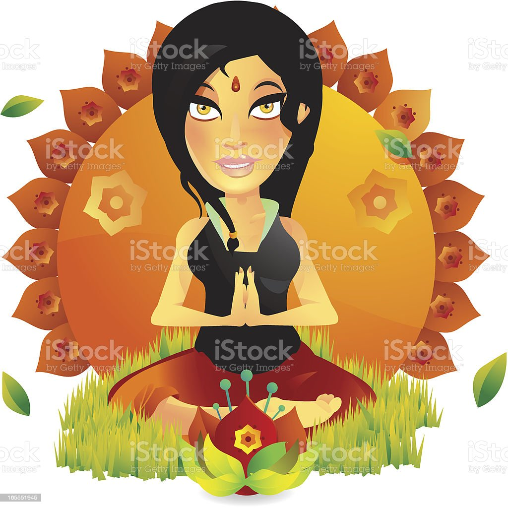 Yoga Fitness Girl royalty-free stock vector art