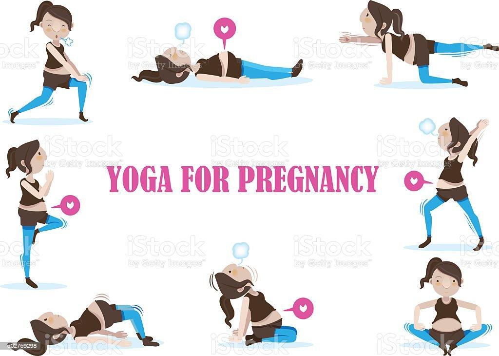 Yoga for Pregnancy vector art illustration