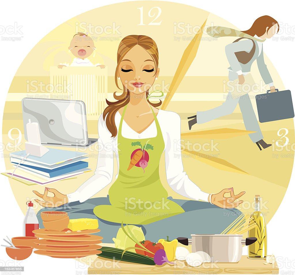 Yoga for Relaxation vector art illustration