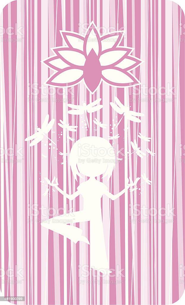 Yoga Girl Silhouette royalty-free stock vector art