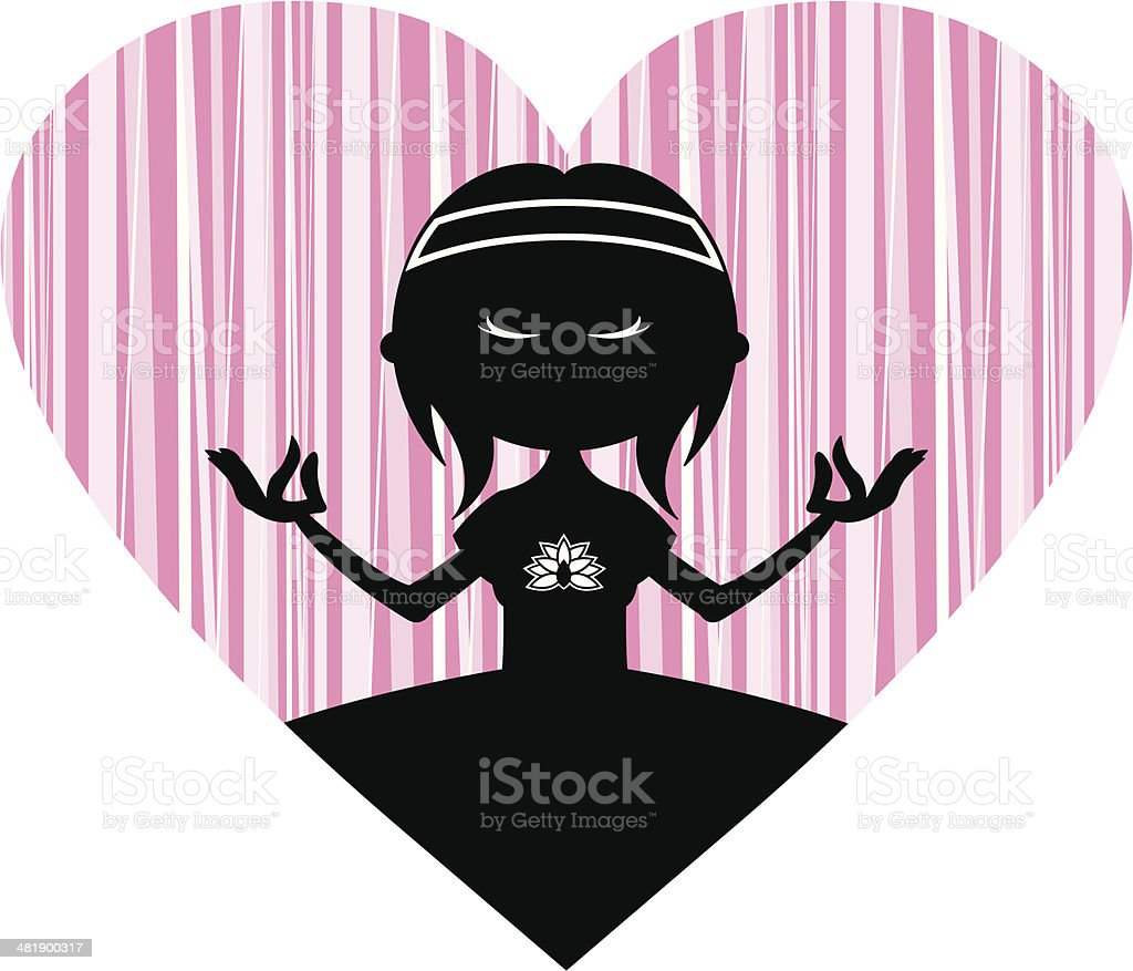 Yoga Girl Silhouette royalty-free stock vector art