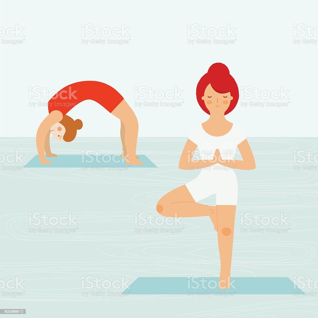 Yoga illustration vector art illustration
