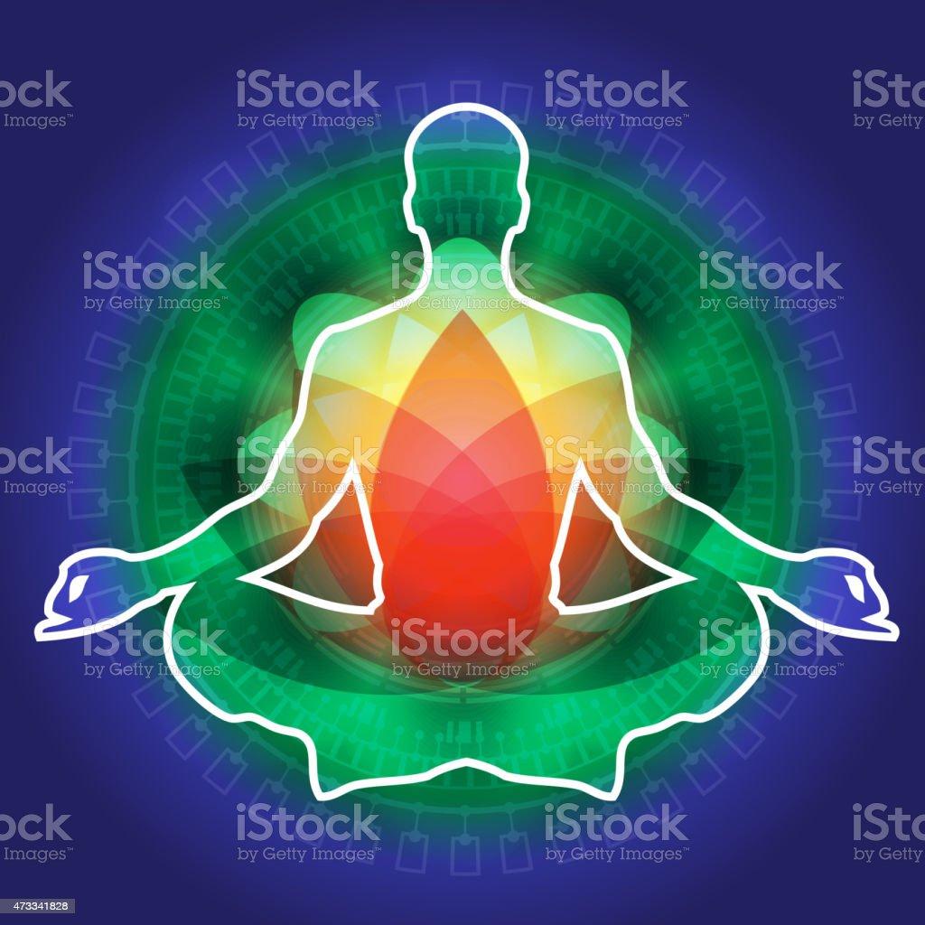 Yoga Meditation - Illustration vector art illustration
