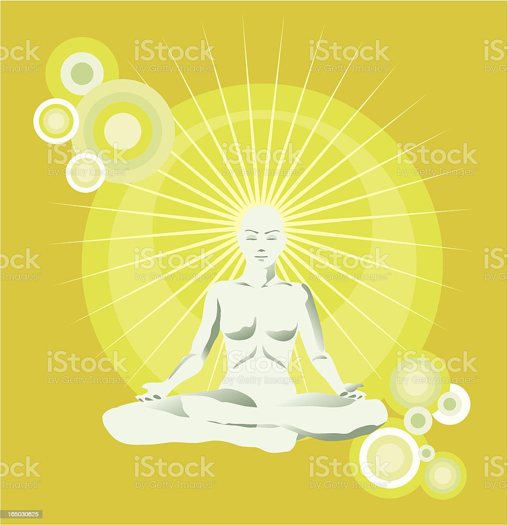 yoga mind relaxation royalty-free stock vector art