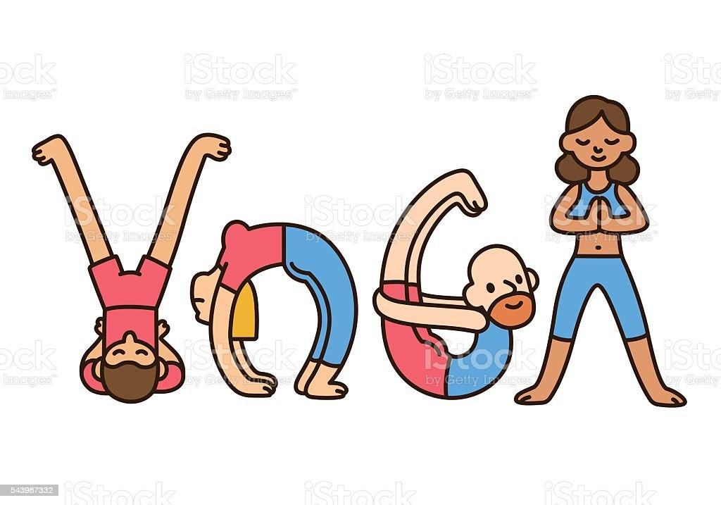 yoga people illustration vector art illustration