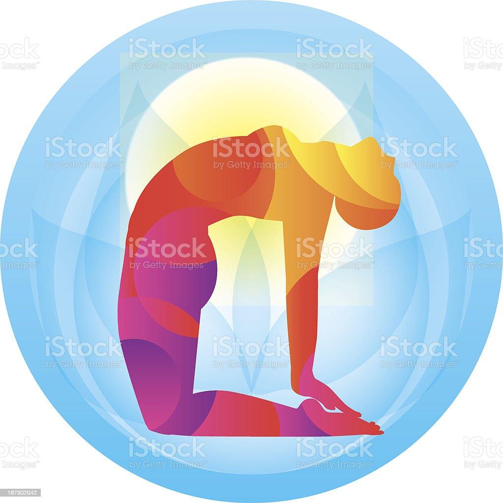 Yoga. Pose of a camel. Vector illustration vector art illustration