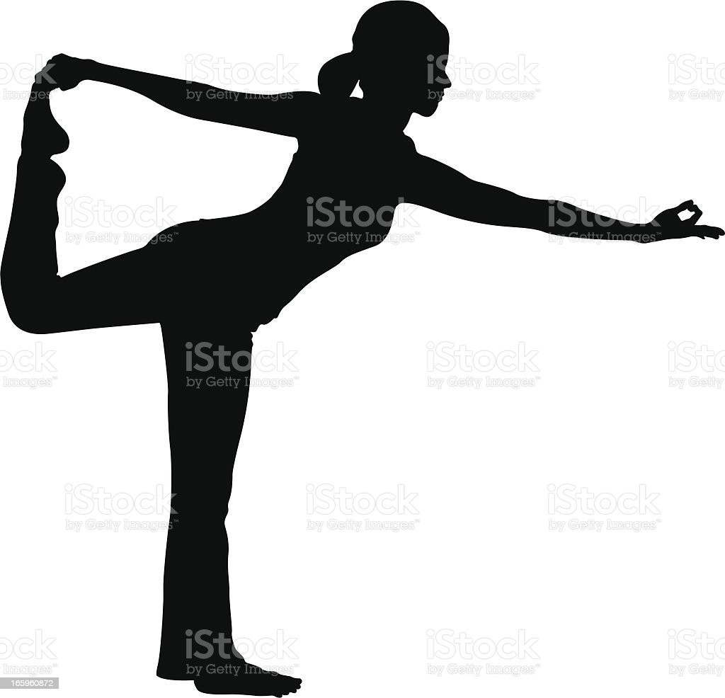 Yoga Pose royalty-free stock vector art