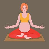 yoga poses for pregnant women, future mother, motherhood and fitness