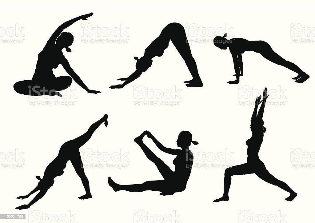 Yoga Poses royalty-free stock vector art