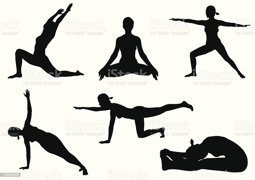 Yoga Poses royalty-free stock vector art