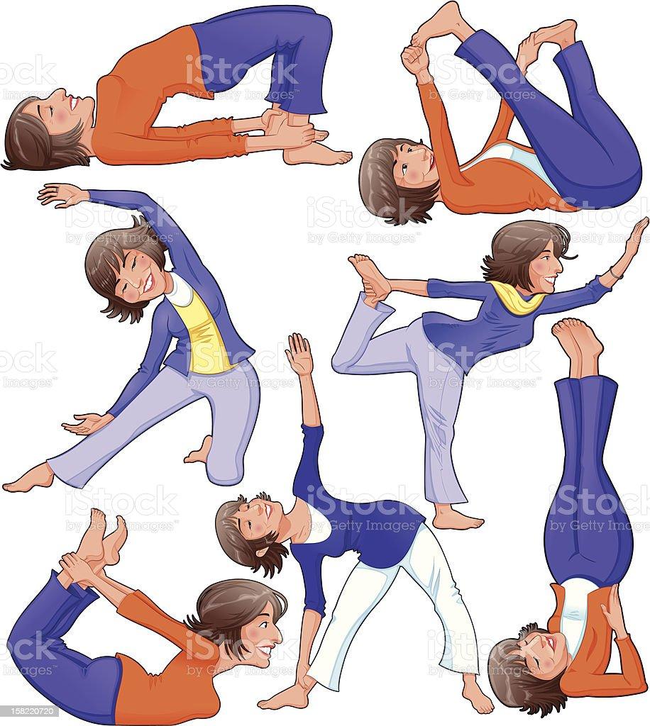 Yoga Positions. royalty-free stock vector art
