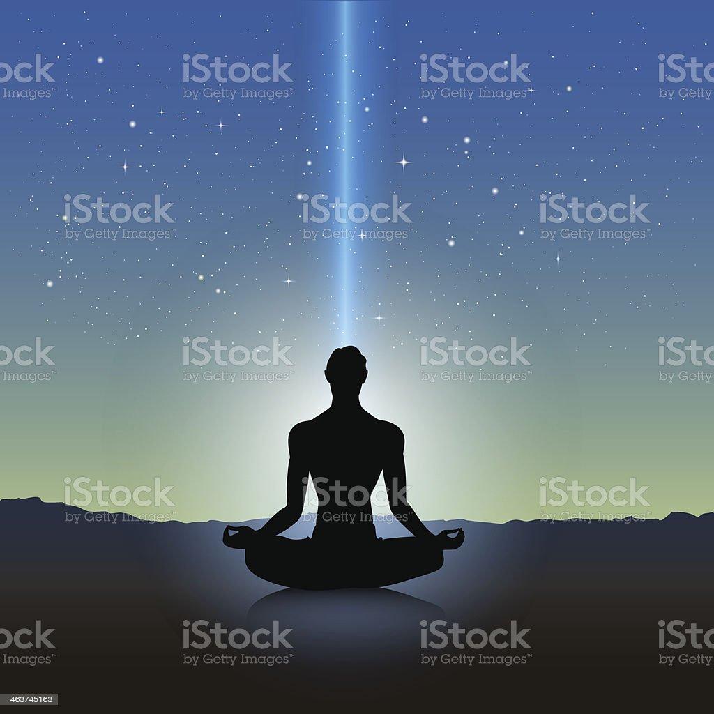 Yoga silhouette royalty-free stock vector art
