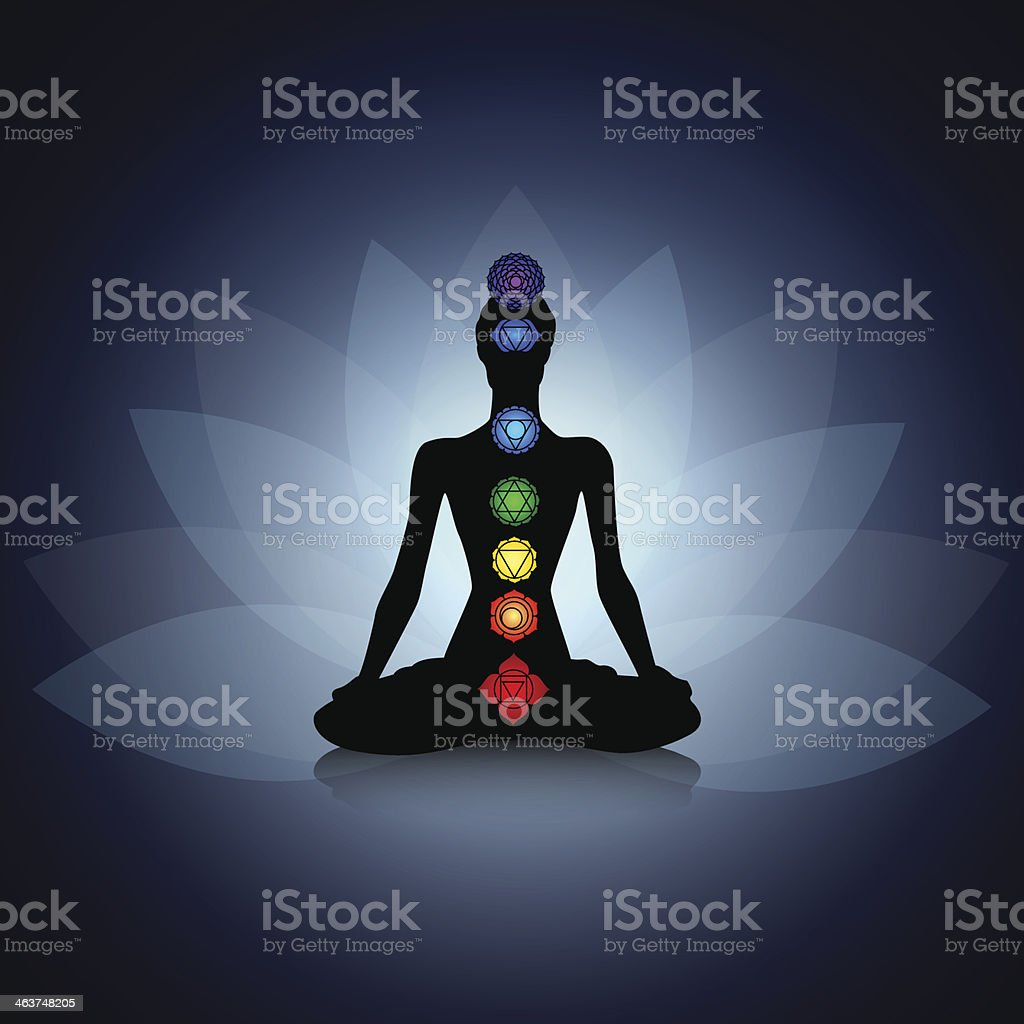 Yoga silhouette vector art illustration