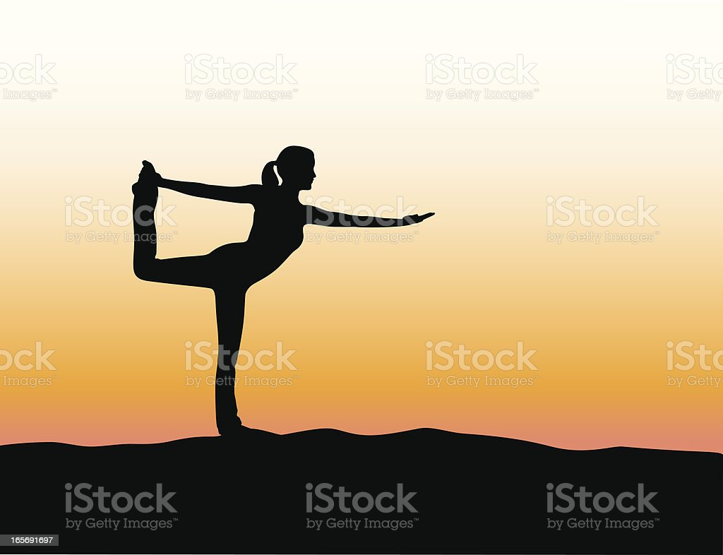 Yoga Strength Vector Silhouette royalty-free stock vector art