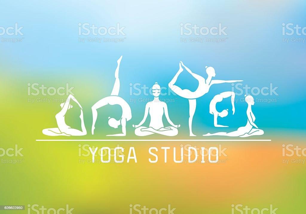 Yoga Studio vector art illustration