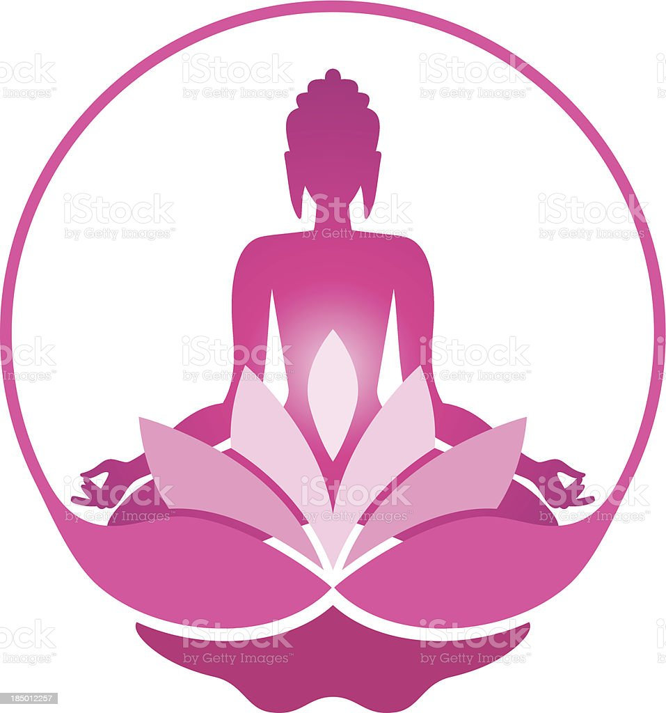 Yoga symbol royalty-free stock vector art