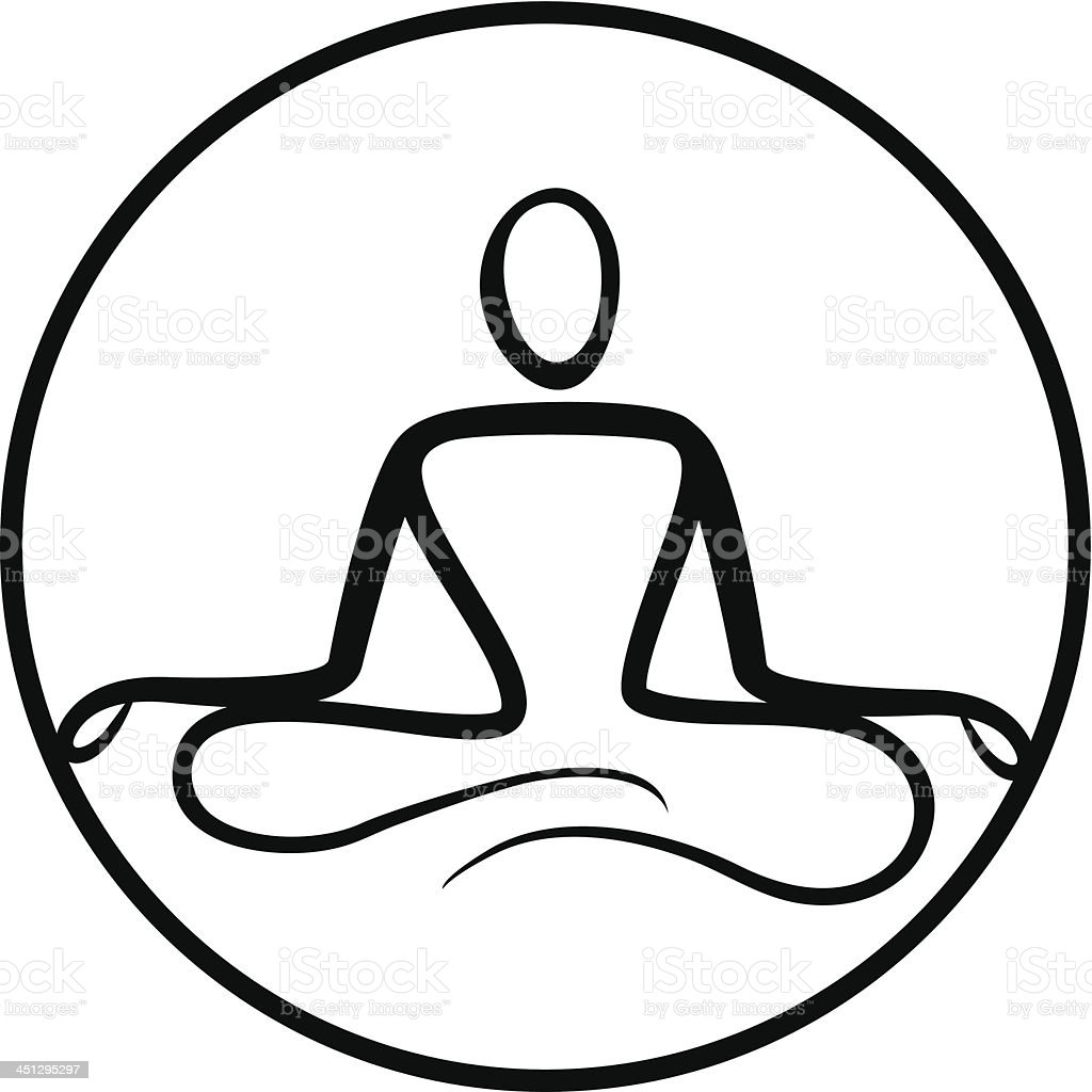Yoga Symbol stock vector art 451295297 | iStock