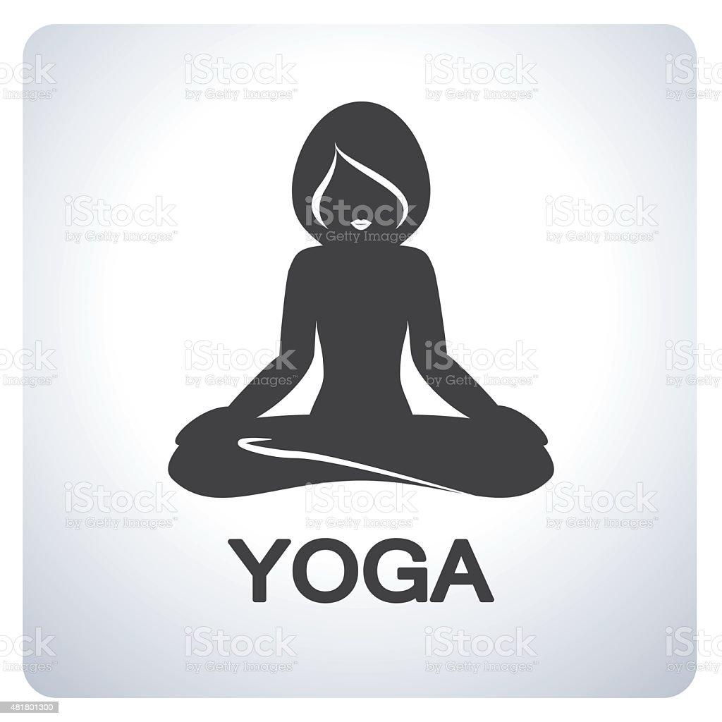 Yoga Symbol vector art illustration