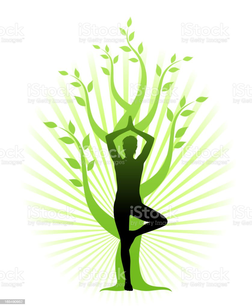 Yoga royalty-free stock vector art