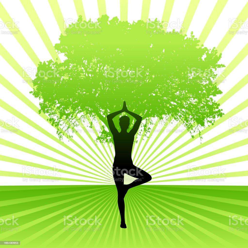 Yoga royalty-free stock vector art