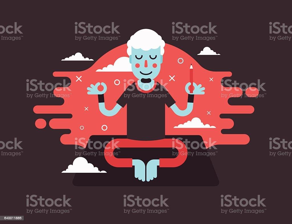 Yoga-designer vector art illustration