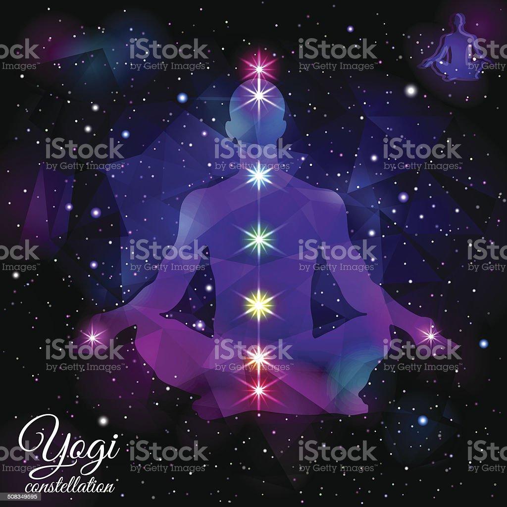 Yogi Constellation. vector art illustration