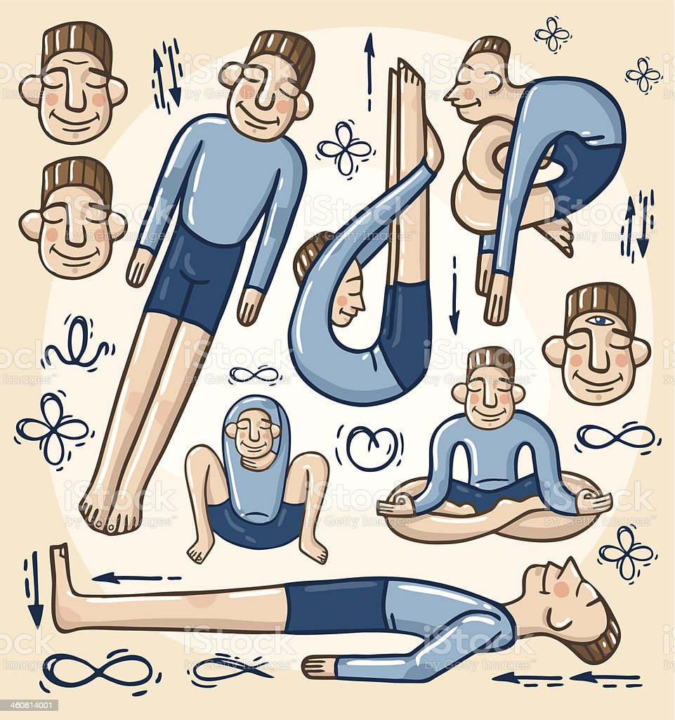 Yogi vector art illustration