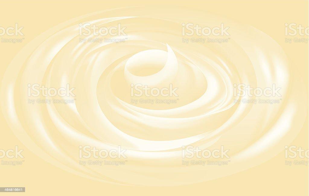 Yogurt, ice-cream or facial cream vector texture vector art illustration
