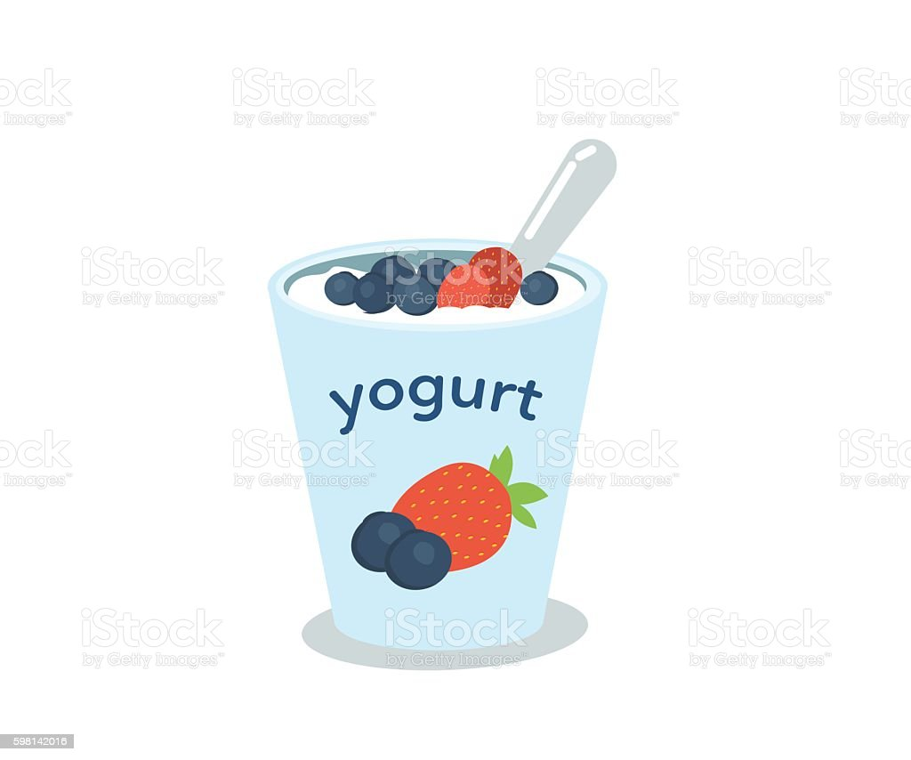 Yogurt vector art illustration