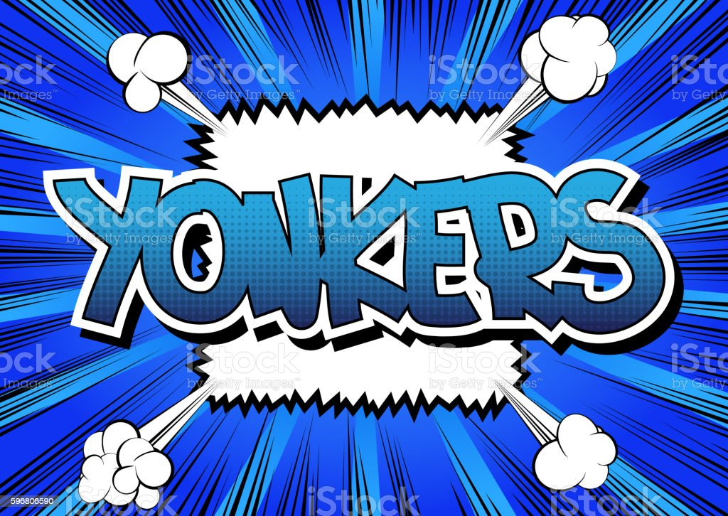 Yonkers - Comic book style word. vector art illustration